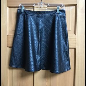 One Clothing Black Faux Leather Skirt